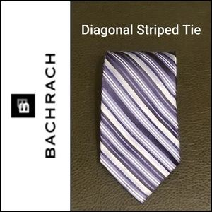 Bachrach Diagonal Striped Tie in Shades of Blue